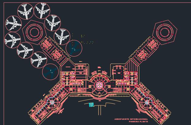 اتوکد طراحی فرودگاه شماره پنج به صورت رایگان - فروشگاه ایرانیان شهرساز