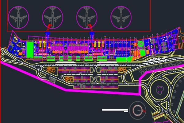 اتوکد طراحی فرودگاه شماره یازده به صورت رایگان - فروشگاه ایرانیان شهرساز