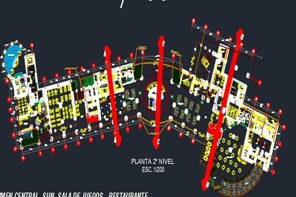 اتوکد طراحی هتل شماره چهارده به صورت رایگان - فروشگاه ایرانیان شهرساز