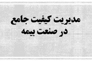 مدیریت کیفیت جامع در صنعت بیمه به صورت رایگان - فروشگاه ایرانیان شهرساز