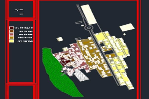 اتوکد طرح هادی روستایی امین شهر اصفهان - فروشگاه ایرانیان شهرساز